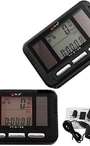 WEST BIKING® Bike Computer,Solar Charger Cycling Bike LED Digital Computer Odometer Tachometer Speedometer