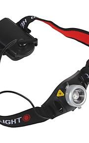 Lanternas de Cabeça LED 500 lm 2 Modo Zoomable Ciclismo Preto