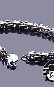 spersonalizowany łańcucha prezent bransoleta ze stali nierdzewnej grawerowane biżuteria