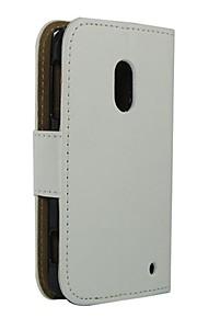 용 노키아 케이스 지갑 / 카드 홀더 / 스탠드 케이스 풀 바디 케이스 단색 하드 인조 가죽 Nokia Nokia Lumia 620