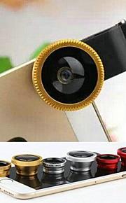 1 어안 렌즈와 매크로 렌즈와 아이폰 4 / 4S / 5 / 5 초 / 6 / 6 플러스에 대한 렌즈 캡과 가방 0.67x 와이드 앵글 3