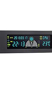 STW geval van pc frontpaneel 5,25 inch 3 kanaals LCD fancontroller paneel met temperatuurdisplay