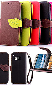 용 HTC케이스 카드 홀더 / 지갑 / 스탠드 / 플립 케이스 풀 바디 케이스 단색 하드 인조 가죽 HTC