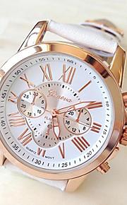 Geneva Dame Quartz Armbåndsur Afslappet Ur PU Bånd Elegant / Mode Hvid / Blåt / Rød / Grøn / Pink