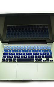 """coosbo® franska azerty färgrik silikon tangentbord täcker flår för 11,6 """"/13.3"""" /15.4 """"/ 17"""" macbook air pro / näthinnan"""