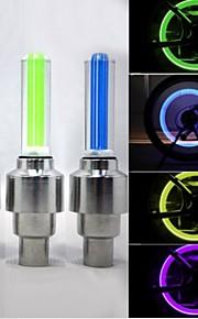 Luces para bicicleta / Luces Tiltilantes para Tapas de Válvulas / luces de la rueda LED - Ciclismo Impermeable 50lm Lumens Batería