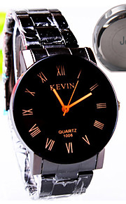 Personalized Gift Men's Casual Watch Steel Strap Engraved Watch