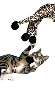 Brinquedo Para Gato Brinquedos para Animais Interativo Brinquedo de Provocação Elástico Leopardo Algodão Para animais de estimação