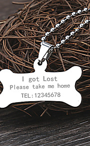 Personalized Gift Stainless Steel Silver Dog Tag
