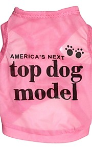 Cat Dog Shirt / T-Shirt Dog Clothes Cosplay Letter & Number Rose Blue Costume For Pets