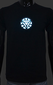 LED-T-shirts Lydaktiverede LED-lys Bomuld Originale