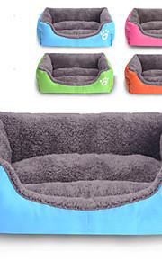 Кошка Собака Кровати Животные Коврики и подушки Однотонный Водонепроницаемость Милые Оранжевый Розовый Зеленый Синий Для домашних животных