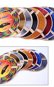 5 Colors 4M/Lot(Volume) DIY Car Interior Air Conditioner Outlet Vent Grille Chrome Decoration Styling Strip
