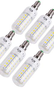 YouOKLight 12W 1000 lm E14 E26/E27 LED-lampa T 48 lysdioder SMD 5730 Dekorativ Varmvit Kallvit AC 110-130V AC 220-240V