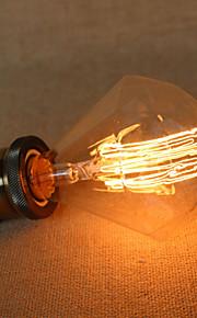 E27 40w Diamond G95 Straight Edison Bulb Wire Large Bulb Pendant Bar with a Retro Light Source