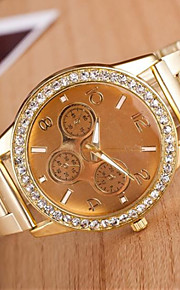 Mulheres Relógio de Moda Quartzo Lega Banda Brilhante Prata Dourada Ouro Rose Prata Dourado Ouro Rose