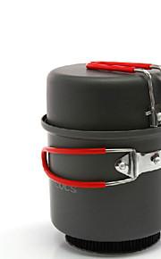 ALOCS Camping Cookware Mess Kit Camping Pot Sets Hard Alumina for Camping & Hiking