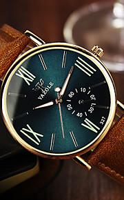 YAZOLE Męskie Zegarek na nadgarstek Kwarcowy Na codzień Skóra Pasmo Na co dzień Brązowy