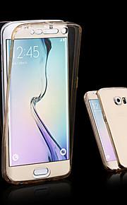fodral Till Samsung Galaxy Samsung Galaxy-fodral Genomskinlig Fodral Ensfärgat TPU för A3 (2017) A5 (2017) A7 (2017) A7(2016) A5(2016)