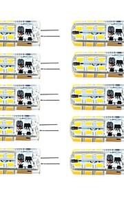 BRELONG 10 pcs G4 Dimmable 2.5W 24LED SMD2835 Corn Light White / Warm White / AC12V / DC12V / AC220V