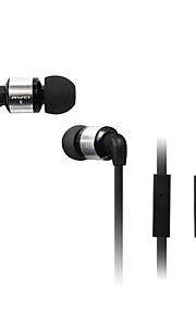 Moda AWEI 600M del enchufe de 3.5mm en la oreja de aleación de aluminio de Super Bass Auriculares Micrófono-(Negro / rojo / oro)