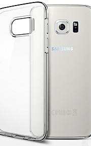 fodral Till Samsung Galaxy Samsung Galaxy S7 Edge Genomskinlig Skal Ensfärgat TPU för S8 Plus S8 S7 edge S7 S6 edge plus S6 edge S6
