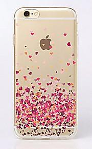 Kılıf Na Apple iPhone X iPhone 8 iPhone 6 iPhone 6 Plus iPhone 7 Plus iPhone 7 Ultra cienkie Przezroczyste Wzór Czarne etui Serce Miękkie