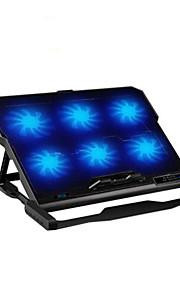cojín de enfriamiento más fresco seis ventiladores ergonómico con el sostenedor del soporte para el cuaderno del ordenador portátil
