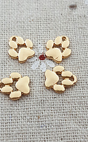 20pcs hund hvalp fodaftryk kæledyr pote print perle charm dingle halskæde vedhæng (9 * 11mm)