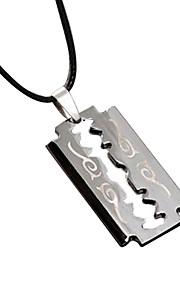 titanium stål vintage halskæde med et skjul reb - klinge
