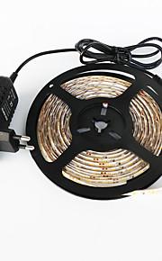 z®zdm vanntett 5m 300x3528 hvit / varmt hvitt lys ledet eu / us / uk ac110-240v til dc12v2a transformator