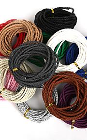 beadia 3mm runde flettet pu læder snor reb streng for DIY smykker halskæde armbånd håndværk making (5mts)