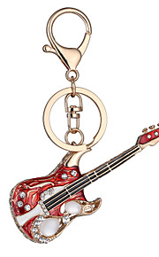 europa e os estados unidos novo aniversário do dia de fábrica presente realista chave da guitarra chaveiro cadeia carro saco chave dos