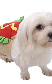 Pet Dog 3D Clothes Coat Bread Hot Dog Hamburger Costume For Halloween Party Cosplay Apparel Puppy Kitten Clothes