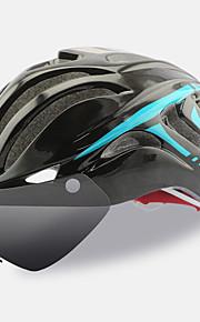 FTIIER Bisiklet kaskı 18 Delikler CE Bisiklet Ayarlanabilir One Piece Googleın ile Kask Aerodinamik Kask Tam Yüz Kent Sporlar Gençlik PC