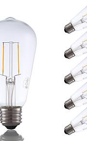 E26 LED-glødepærer ST19 2 leds COB Mulighet for demping Dekorativ Varm hvit 220lm 2700K AC 110-130V
