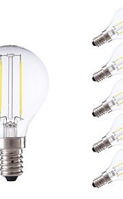 E14 LED-glødepærer P45 2 leds COB Varm hvit Kjølig hvit 250lm 6500/2700K AC 220-240V