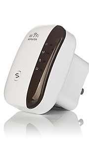 Trådløs Wifi Relæstation Signal Forstærker 802.11N / B / G Wi-Fi Rækkevidde forlænger 300Mbps Signal Forstærkere Relæstation Wifi Wps-Us