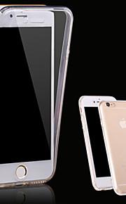 Kılıf Na Apple iPhone X iPhone 8 Etui iPhone 5 iPhone 6 iPhone 6 Plus iPhone 7 Plus iPhone 7 Przezroczyste Pełne etui Solid Color Miękkie