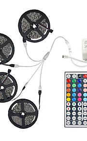 20m Light Sets 600 LEDs 5050 SMD RGB Remote Control / RC / Cuttable / Dimmable / Linkable / Suitable for Vehicles / Self-adhesive / Color-Changing / IP44