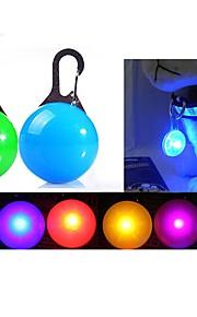 고양이 강아지 LED안전 조명 LED 조명 포함 배터리 솔리드 플라스틱 레드 그린 블루 핑크 투명