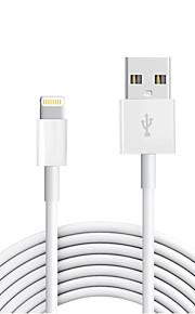 USB 2.0 Verlichting USB kabeladapter Data & Synchronisatie Koord Oplaadkabel Oplaadkoord Normaal Kabel Voor iPad Apple iPhone 300 cm TPE