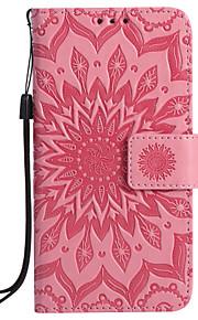 fodral Till Samsung Galaxy S7 edge S7 Korthållare Plånbok med stativ Lucka Mönster Läderplastik Fodral Mandala Hårt PU läder för S7 edge