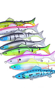 "8 pcs Hard Bait Minnow Fishing Lures Hard Bait Minnow Assorted Colors g/Ounce,127 mm/5"" inch,Hard PlasticSea Fishing Bait Casting"