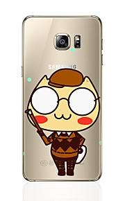 Custodia Per Samsung Galaxy S7 edge S7 Transparente Fantasia/disegno Custodia posteriore Cartoni animati Morbido TPU per S7 edge S7 S6