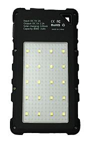 Power Bank External Battery 5V 2A / # Battery Charger Waterproof / Flashlight / Multi-Output LED