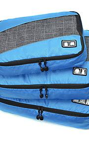 3 Pças. Bolsa de Viagem Organizador de Mala Portátil Dobrável Durável Grande Capacidade Organizadores para Viagem Acessório de Bagagem