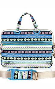 13.3 14.1 15,6 inch sneeuwvlok patroon laptop schoudertas met riem handtas voor oppervlak / dell / hp / samsung / sony etc