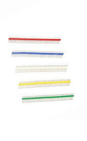 Gold-plated 40P 2.54mm Male and Female Color Single Row Pin Header for Arduino Uno R3  (20pcs)