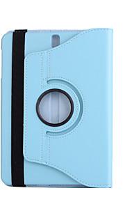 Voor case cover met standaard 360 rotatie volledige body case vaste kleur hard pu leer voor samsung tab s3 9,7 t825 / t820